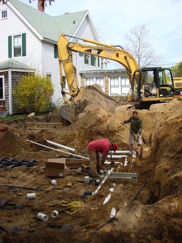 Septic being installed (Image credit: Derrill Bazzy)